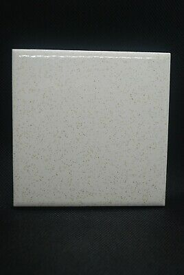 "Vtg Retro Florida Wall Tile Mid Century Kitchen Bath 4 3/8"" Gold Dust Speckled"