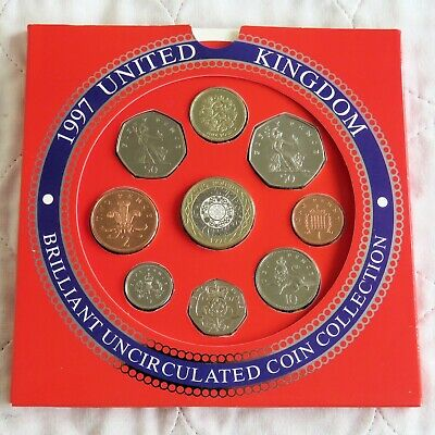 1997 ROYAL MINT UK BRILLIANT UNCIRCULATED 9 COIN SET - sealed pack