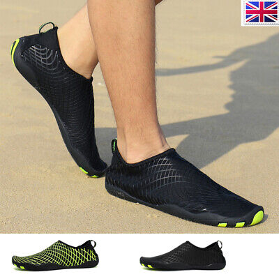 Men Aqua Shoes Quick Drying Beach Swimming Water Shoes Diving Breathable Slip On