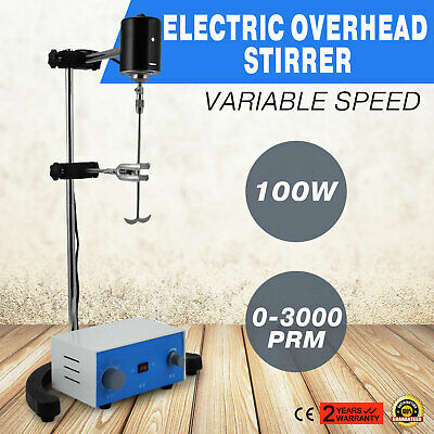 Electric overhead stirrer mixer variable speed stainless steel easy operation