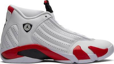 reputable site f2a2e 2d572 2019 Nike AIR JORDAN 14 RETRO XIV CANDY CANE WHITE VARISTY RED 487471-100