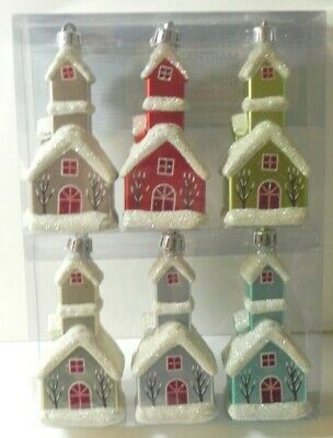 Martha Stewart Frosted Traditions Christmas Ornaments Church