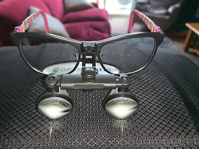 Orascoptic Flip Up RDH Elite Loupes No Scratches  + case 2.5X Used Twice $1200