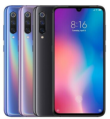 "Xiaomi Mi 9 64GB (FACTORY UNLOCKED) 6.39"" 6GB Ram Blue Black Violet (Global)"