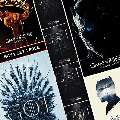Game of Thrones Posters TV A4 A3 Prints Art All Seasons Westeros GOT Night King
