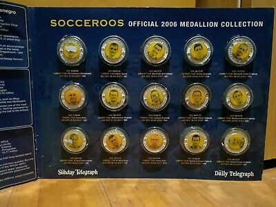 Heros of the Socceroos Official 2006 Medallion Collection COMPLETE set