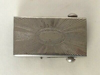 Antique Vintage Estate Small Belt Buckle Roller Strap Style Engraved Front