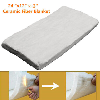 24''x12''x2'' Ceramic Fiber Blanket High Temperature Thermal Insulation Pad
