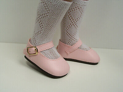 """Debs WHITE Patent T-Strap Doll Shoes For Dianna Effner 13/"""" Little Darling Vinyl"""