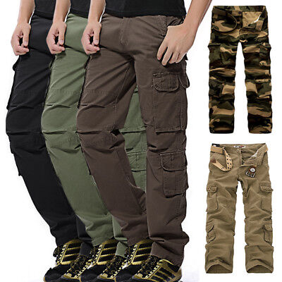 Men's Military Army Combat Trousers Tactical Airsoft Work Camo Pants Cargo 30-46
