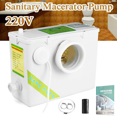 Macerator Sewage Pump Waste Water Marine Toilet Disposal Machine Basement Clean