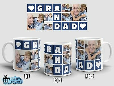 Personalised Photo Grandad Cup - Tea Coffee Mug - Fathers Day Grandpa