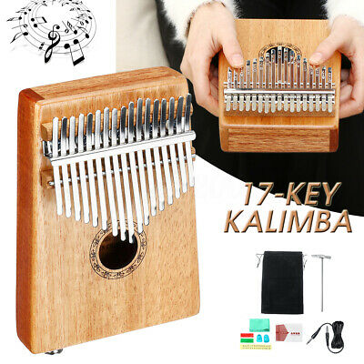 11Pcs 17 Key Kalimba Single Board Mahogany Thumb Piano Mbira Keyboard Instrument