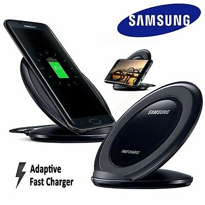Samsung Wireless Qi Fast Charger Stand For Galaxy S7 S8 S9 S10 Plus iPhone X 8