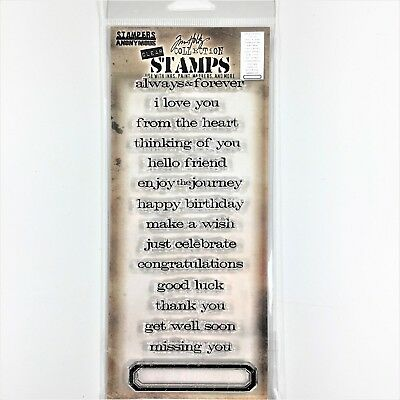 Tim Holtz Stampers Anonymous Saying Stuff Clear Stamp Set Sentiments Greetings