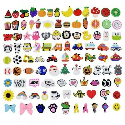 edc36357c US Stock 500PCS Different Shoe Charms Accessories fit Jibbitz Clog Shoes  Bands