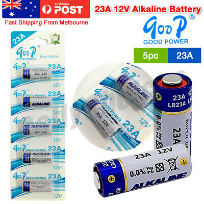 5x 23A 21/23 A23 23A 23GA 12V Alkaline Battery for Garage Car Remote Alarm