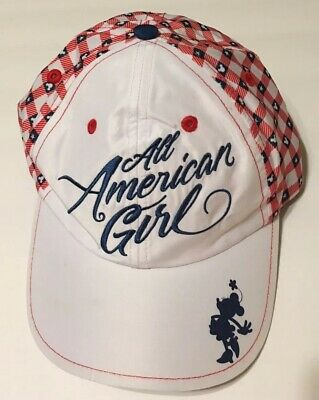 Disney Parks Disneyland Resort Mickey Mouse All American Girl Youth Hat Cap Bow