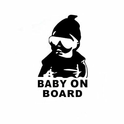 BABY ON BOARD Baby in Shades Child Car Stickers Warning
