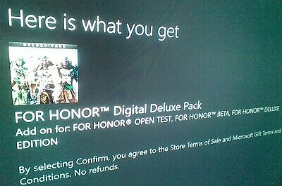 FOR HONOR DIGITAL Deluxe Pack Code DLC Download Xbox One