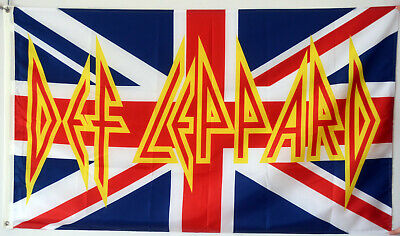 Def Leppard UK Union Jack British England Great Britain Banner Flag 3X5FT