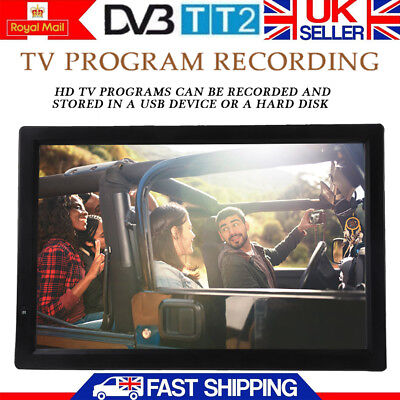 "14""Inch Portable Widescreen1080P HD Digital TV Player+Freeview USB&PVR Recording"