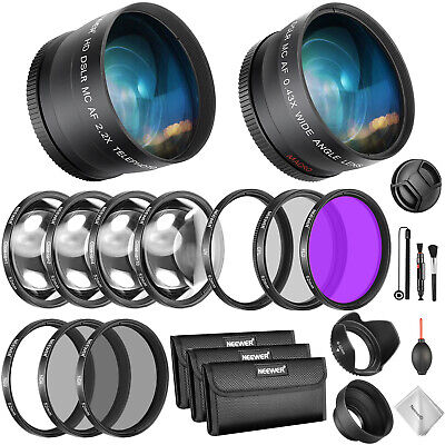 52mm Wide Angle Lens Telephoto Lens and Macro ND UV CPL FLD Filter Set