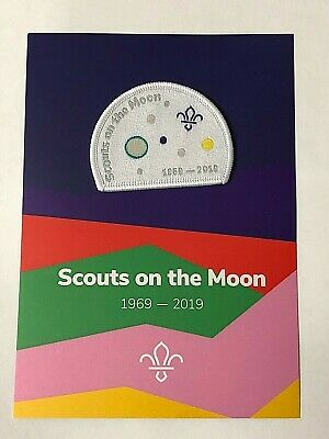 50 years since FIRST SCOUTS ON THE MOON Badge, Astronauts, NASA Apollo 11, Space