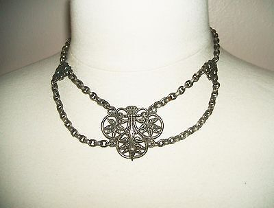 VICTORIAN Swag NECKLACE Antique FESTOON Gothic Beauty