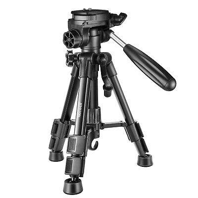 Neewer Mini Travel Tabletop Camera Tripod 24 inches with 3-Way Swivel Pan Head