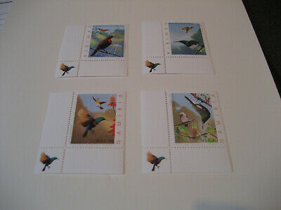 Namibia 2005 Sunbirds Of Namibia Set Of 4 (Corner Of Bird)