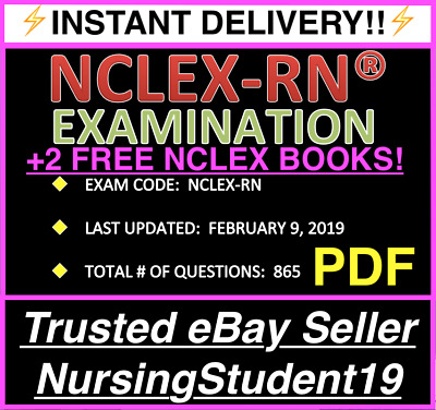 🔥Nclex Rn Actual Exam🔥Test Bank Of Real Questions & Answers🔥Nclex 2019⚡️Pdf⚡️