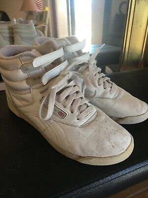 168f37dc VINTAGE REEBOK CLASSIC Womens 8 Shoe High Top Freestyle ...