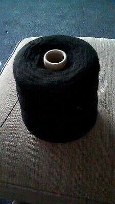 Large Cone of Black Knitting Machine 4 Ply Acrylic Wool