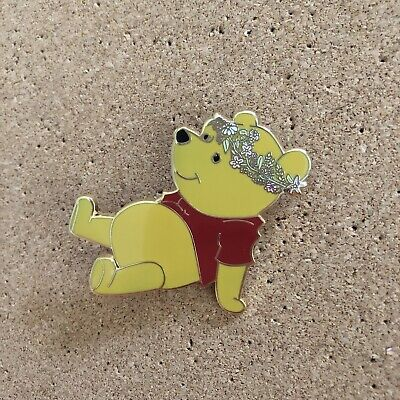 Disney Winnie The Pooh Wearing Flower Crown Jumbo Fantasy Pin