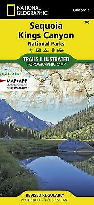 National Geographic Sequoia Kings Canyon Trails Illus Topo Map #205 -CA- 2019