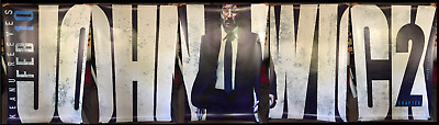 John Wick Chapter 2 Movie Banner Bus Shelter Poster Parabellum Keanu Matrix Neo