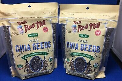 New Bobs Red Mill Organic Whole Chia Seeds Gluten Free 12oz - 2 Pack
