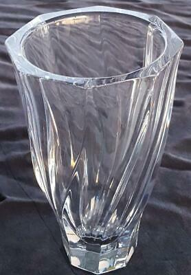 """Beautiful Orrefors Crystal 8"""" Vase - Sweden - VGC - GORGEOUS PIECE - Residence"""