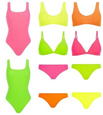 PRIMARK Ladies Girls Holiday Neon Swimsuit Swimming Costume Party Ibiza Festival