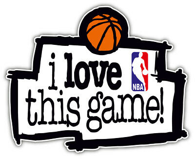 """NBA I Love This Game Basketball Sport Car Bumper Sticker Decal """"SIZES''"""