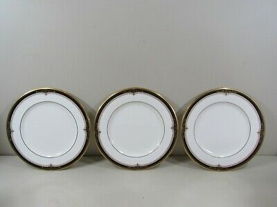 "(3) Noritake Gold and Sable 10 3/4"" Dinner Plates ~ Beautiful Clean Condition!!"