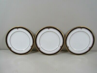 "(3) Noritake Gold and Sable 8 1/2"" Salad Plates ~ Beautiful Clean Condition!!"
