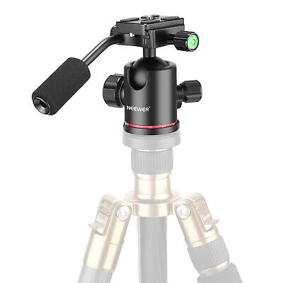 Neewer Camera Tripod Ball Head with Handle and 1/4 inch Quick Shoe Plate