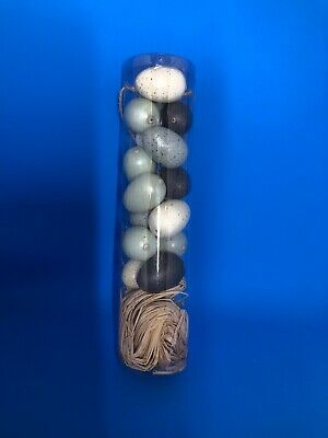 Pier 1 Imports NWT Easter Spring TABLE SCATTER EGGS GRAY BLUE CREAM COLOR 15 CT
