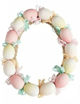 Pier 1 Imports Easter Spring PASTEL MULTICOLOR EASTER EGGS WREATH