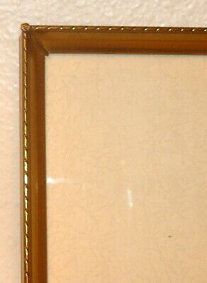 """Vintage BRASS/Metal PHOTO/Picture FRAME 5x7 5"""" x 7""""  Solid Brass"""