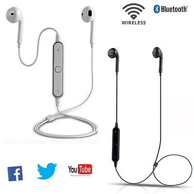 Bluetooth Headset Headphone Earbuds Stereo Earphone with Mic for Android IOS
