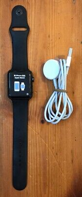apple watch black series 3 42mm GPS NON cellular  in good Condition + Free Post
