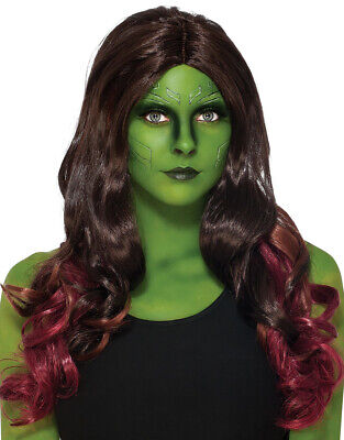 Guardians Of The Galaxy Costume Accessory, Womens Deluxe Gamora Wig